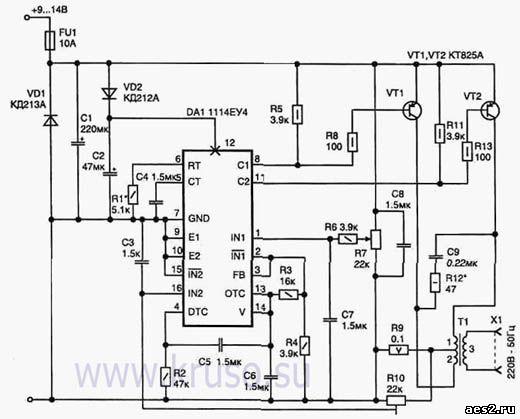 DC-AC Преобразователь - схема