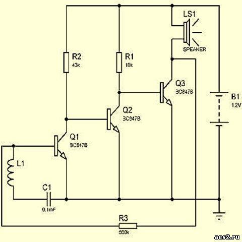 Микронаушник на транзисторах