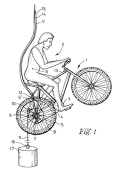 Трос и груз – технология, чтобы перемещаться на велосипеде вверх и вниз