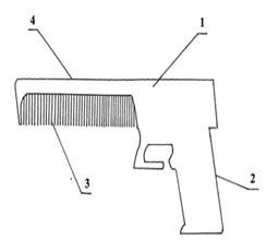 Расческа в форме пистолета