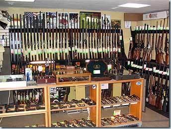помещение оружейного магазина