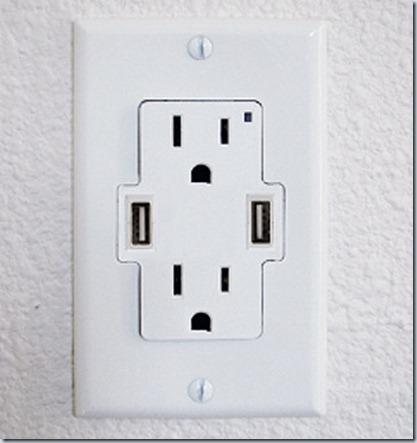 USB-порта, совмещенные с розеткой