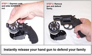 GUN PUCK разработала замок для пистолета – знающий код откроет его за секунду и даже в темноте