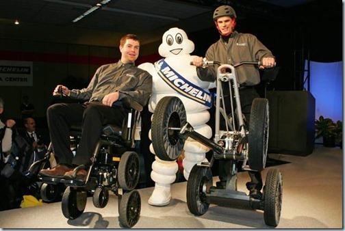 tweel на робототехнической коляске и на скутере