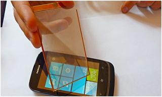 Прозрачная панель для мобильных устройств с солнечными батареями