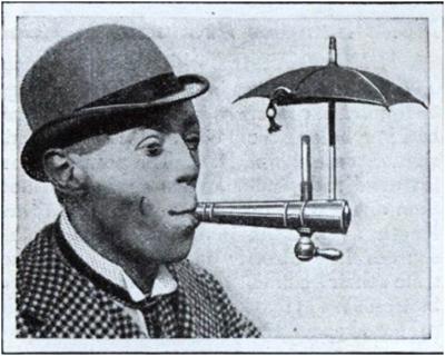 Мундштук для курения во время дождя