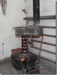 квадратная печь на отработке масла