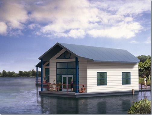 дом стоящий на воде