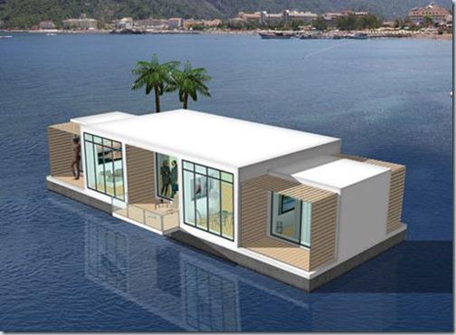семейный дом на воде