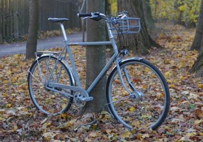 так велосипед выглядит днем
