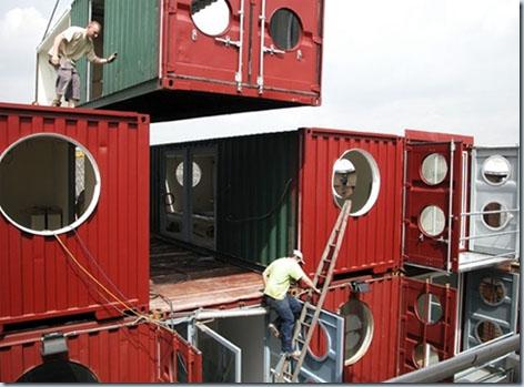 монтаж домов из контейнера