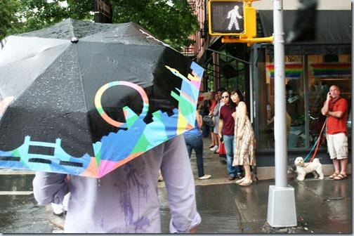 зонт после дождя
